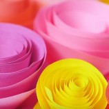 DIY – papierové ružičky rýchlo a jednoducho