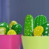 Kamenný kaktus – tip na výrobu peknej dekorácie