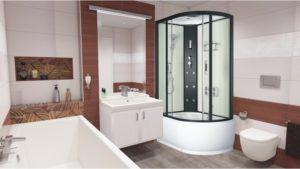 Sprchový masážny box