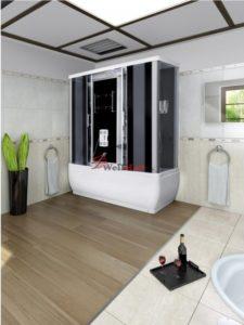 Sprchový masážny box s veľkou vaňou